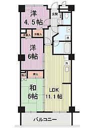 シュライン川崎[502号室]の間取り