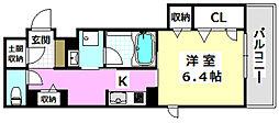 JR東海道・山陽本線 岸辺駅 徒歩10分の賃貸マンション 1階1Kの間取り