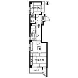 アミューズ入谷[4階]の間取り