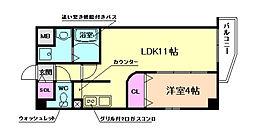 TMR玉川[4階]の間取り
