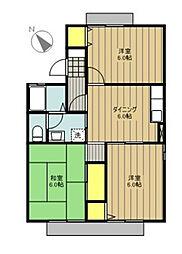 セジュール大島B[2階]の間取り
