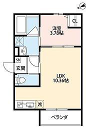 Secondo Casa TS 3階1LDKの間取り