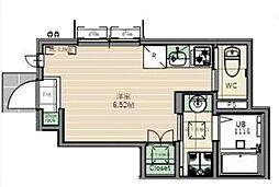 東京メトロ東西線 落合駅 徒歩10分の賃貸アパート 1階ワンルームの間取り