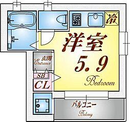 アクシア須磨浦I[1階]の間取り
