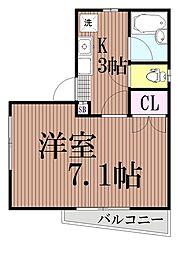 東京都大田区西蒲田8丁目の賃貸マンションの間取り