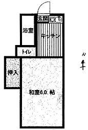 松田コーポ[201号室]の間取り
