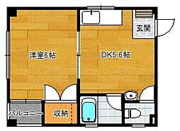 プラザ室見[3階]の間取り