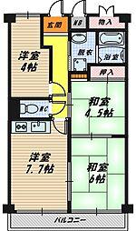 サンハイム今福[6階]の間取り