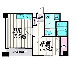 東京都大田区南蒲田1丁目の賃貸マンションの間取り