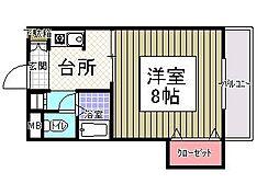 サンシャイン田代II[113号室]の間取り