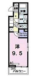JR南武線 矢川駅 徒歩16分の賃貸アパート 3階1Kの間取り