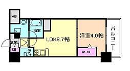 大阪府大阪市西区阿波座1丁目の賃貸マンションの間取り