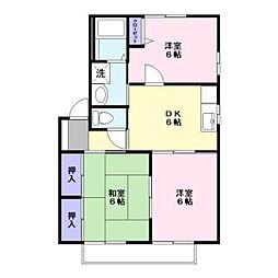 チェリーハウス[203号室]の間取り