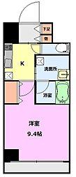 S-FORT新潟本町 8階1Kの間取り