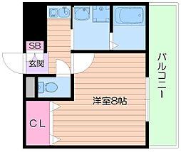大阪府箕面市西宿1丁目の賃貸マンションの間取り