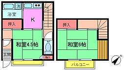 [テラスハウス] 千葉県市川市稲越町 の賃貸【/】の間取り
