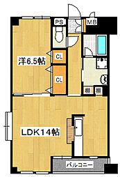 ラウンドタワーオペリア[8階]の間取り