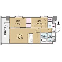 クリスタル&リゾートスカイプレミア[9階]の間取り