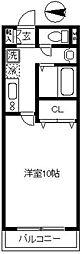 WEST VILLAGE(ウエストヴィレッジ)[102号室]の間取り