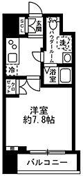 都営新宿線 浜町駅 徒歩6分の賃貸マンション 6階1Kの間取り