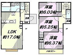 [一戸建] 東京都日野市旭が丘1丁目 の賃貸【/】の間取り