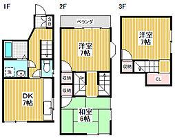 [一戸建] 東京都中野区若宮1丁目 の賃貸【/】の間取り