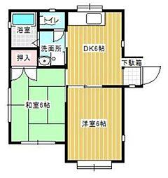 クレール清水 A棟[1階]の間取り