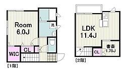 横浜市営地下鉄グリーンライン 日吉本町駅 徒歩3分の賃貸アパート 1階1SLDKの間取り