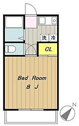 アムールhashimotoI[202号室]の間取り