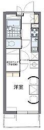 近鉄大阪線 河内山本駅 3.2kmの賃貸マンション 1階1Kの間取り