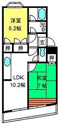 埼玉県さいたま市大宮区土手町3丁目の賃貸マンションの間取り