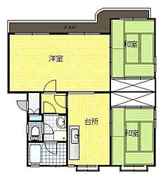 エメラルドマンション香椎 B[4階]の間取り