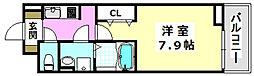 JR東海道・山陽本線 岸辺駅 徒歩4分の賃貸アパート 1階1Kの間取り