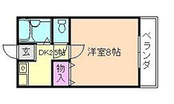 ラフィーネ曽根III(新館)[1階]の間取り