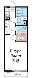 JR総武線 千葉駅 徒歩19分の賃貸アパート 1階1Kの間取り
