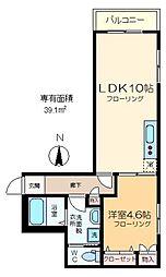 (仮称)江東橋2丁目メゾン 2階1LDKの間取り