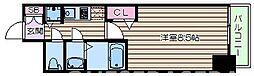 Osaka Metro御堂筋線 本町駅 徒歩3分の賃貸マンション 15階1Kの間取り