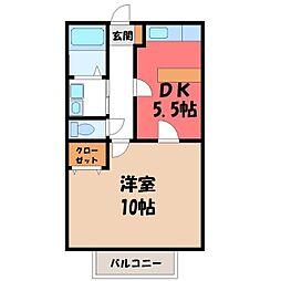 栃木県下都賀郡壬生町大字壬生丁の賃貸マンションの間取り