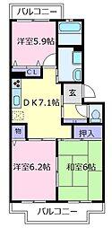 メゾンキララ[2階]の間取り
