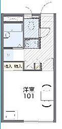 レオパレスシャルマン北越谷VI 35359 2階1Kの間取り