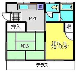 金子荘[11号室]の間取り