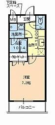 アルベージュ八戸ノ里2番館 仲介手数料10800円 専用消毒[2階]の間取り