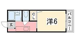 リヴェール田寺[1階]の間取り