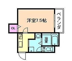 大阪府大阪市福島区吉野3丁目の賃貸アパートの間取り