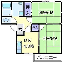 フレグランス萩原天神[2階]の間取り
