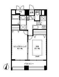 WISTERIA KOMAZAWA[3階]の間取り