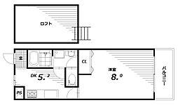 フルール稲葉[2階]の間取り