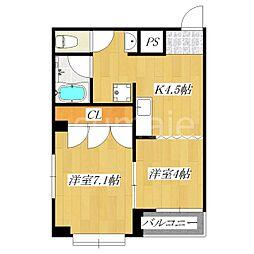 コートF[3階]の間取り