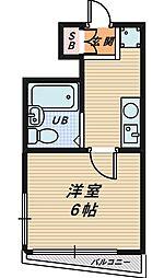 大阪府大阪市城東区成育4丁目の賃貸マンションの間取り