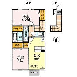 D−room向新庄[2階]の間取り